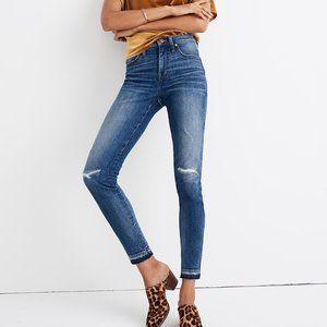"NWT MADEWELL 9"" High Rise Skinny Jeans"